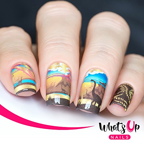 Whats Up Nails – P029 Prehistoric Times Water Decals Sliders for Nail Art (Dinosaurs Ancient Art)