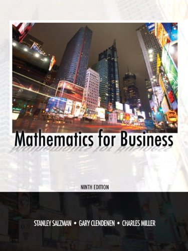 Mathematics for Business (9th Edition)