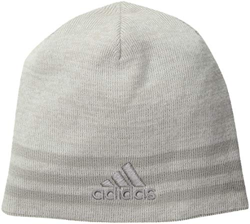 (adidas Men's Eclipse Reversible Beanie, White/Clear Grey/Light Onix/White/Clear Grey Marl, One Size )