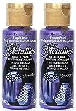 2-Pack - DecoArt Dazzling Metallics Acrylic Colors - Purple 2-Ounces Each