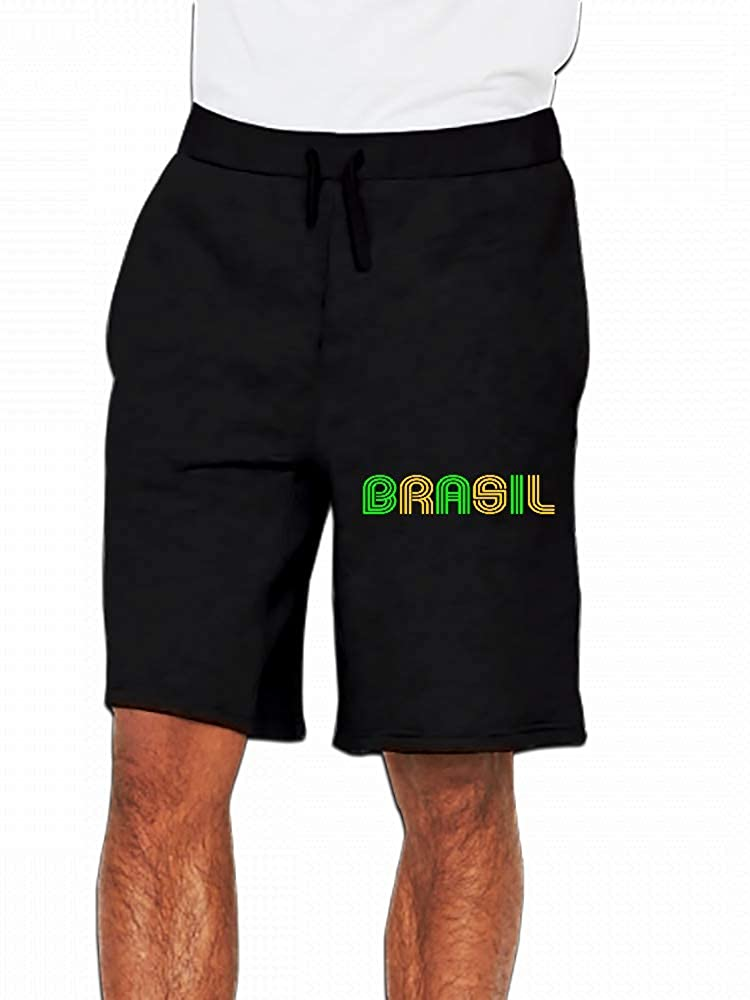 JiJingHeWang Brasil 70s Bicolor Mens Casual Shorts Pants