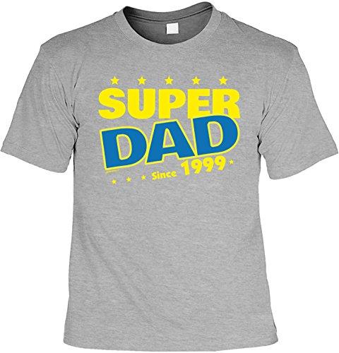 T-Shirt - Super Dad Since 1999 - lustiges Sprüche Shirt als Geschenk zum 18. Geburtstag