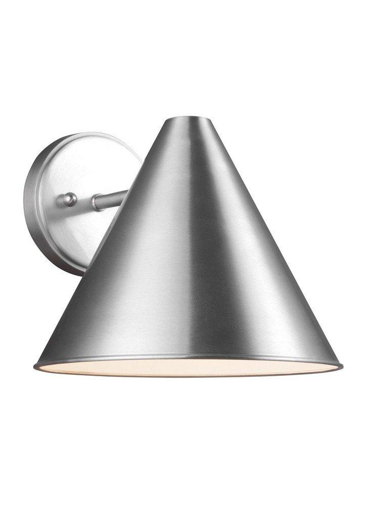 Sea Gull Lighting 8538501EN3-04 Crittenden Outdoor Wall Sconce, 1-Light LED 9.5 Watts, Satin Aluminum