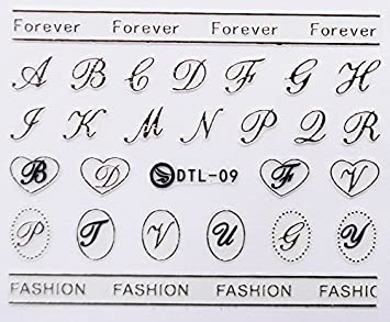 amazon com nail art 3d decal stickers capital letter dtl009 nail