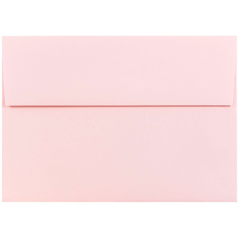 "JAM Paper A7 Invitation Envelope - 5 1/4"" x 7 1/4"" - Light Baby Pink - 25/pack"