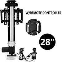 VEVOR Adjustable TV Bracket 110V TV Lift Mechanism for 26-32 TV LED LCD Full Motion TV Mount with Remote Controller
