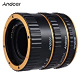 Colorful Metal Electronic TTL Auto Focus Focus AF Macro Extension Tube Ring for Canon EOS EF EF-S 60D 7D 5D II 550D Golden