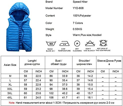 Sky Chaleco Cotton Outwear Men con R Blue sin Warm Light Padded Down Mangas Ronestz Capucha 7qxIw0gO