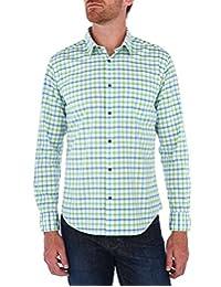 Camisa Casual Regular Fit De Cuadros Verde Medio
