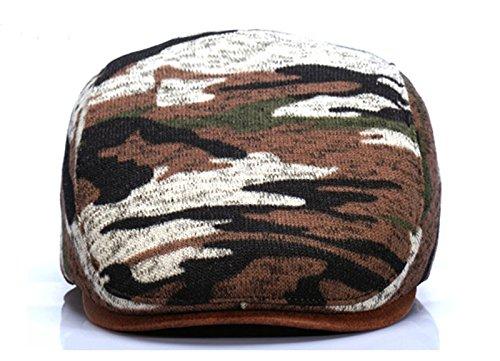 HEYFAIR Newsboy Cap Hooligan Hat for Men Women Camouflage Print Dacron