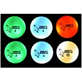 Night Eagle CV LED Golf Balls - Light Activated - No Timer - 6 Pack