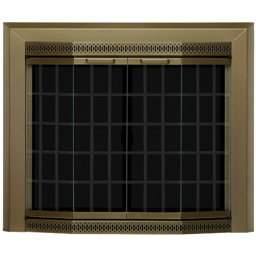 - Pleasant Hearth Grandior Bay Firescreen Oil Rubbed Bronze - Medium