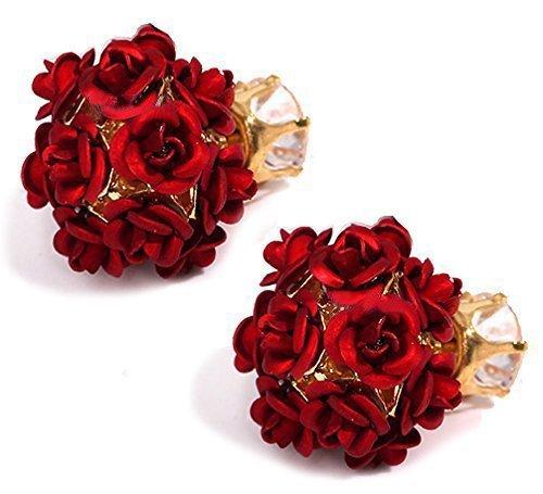 Sitashi Valentine Collection Pearl Chandbali Jhumki Earrings for Women