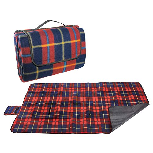 Extra Large Picnic Blanket & Outdoor Beach Blanket - Red 60 x 80 Inches ()