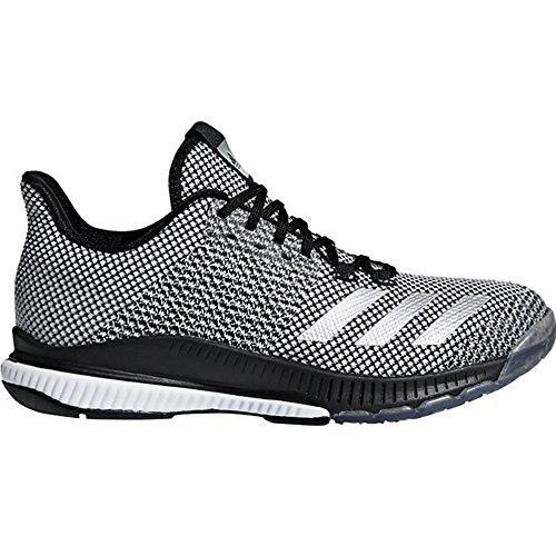 adidas Women's Crazyflight Bounce 2 Volleyball Shoe, Black/Silver Metallic/White, 7 M US