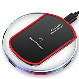 Wireless Charger, Qi Wireless Charging Pad Station for iPhone X / iPhone 8 / iPhone 8 plus / Samung Galaxy S8 / Note 8 / S7 / S7 Edge / Google Nexus 6 / Nokia Lumia 920 and More Qi Enabled Device