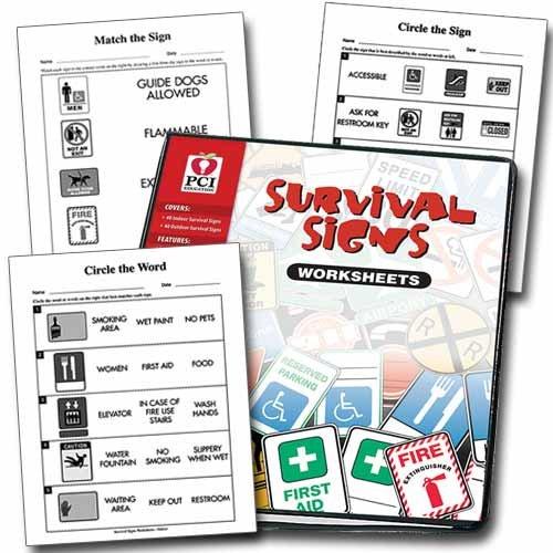 SURVIVAL SIGNS WORKSHEETS BINDER: Janie Haugen: 9781884074493 ...