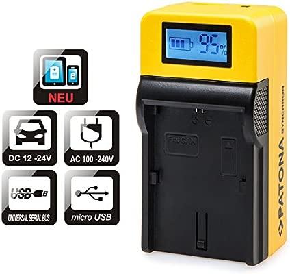 Patona LCD Top Cargador para Batería Canon LP-E6 LP-E6 N con ...