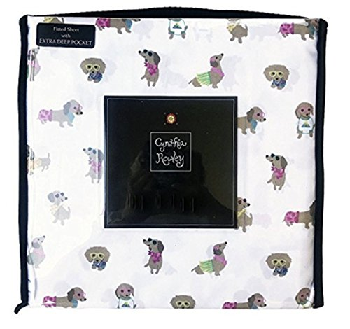 Cynthia Rowley Cute Dachshund Wiener Dogs Dressed in Summer Attire Novelty Sheet Set (Full)