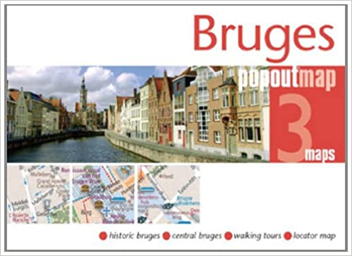 Bruges PopOut Map pocket size popup street map of Bruges PopOut