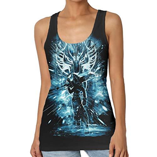 Cloud Strife Sword Tank Top Girl Sport Vests Novelty Gym Workout T-Shirt Black