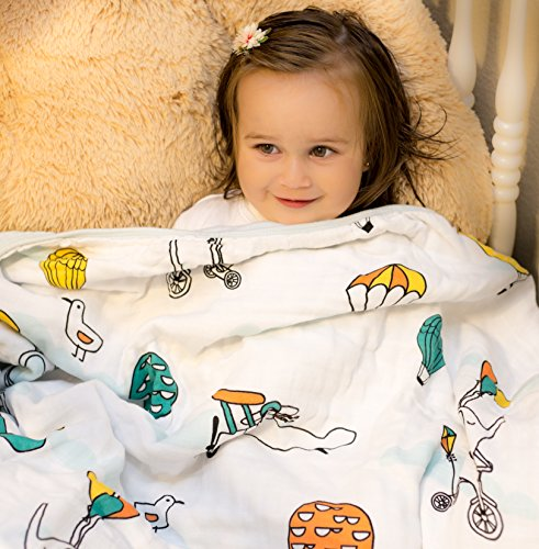 Organic Muslin Baby Toddler Blanket - 100% Hypoallergenic Co