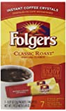 Folgers Classic Instant Coffee 7 Count Single Serve 12 Pack