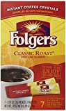 Folgers Classic Instant Coffee Single Serve, 7 Count