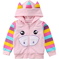 Toddler Baby Girl Floral Cartoon Hoodies Sweatshirts Casual Tops Litter Girl Zipper Sweatsuits Sports Clothes