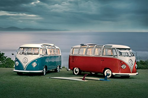 VW Volkwagen Twin Kombi Vans  Vintage Car Photography Hobby