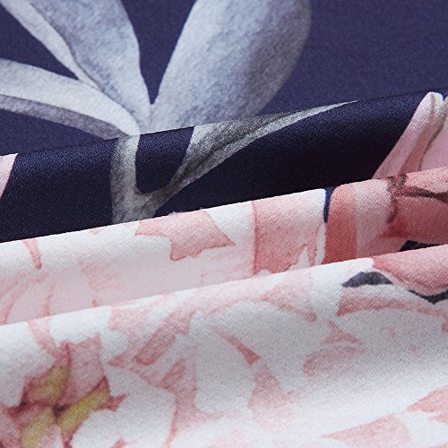 Stampato 4 a da Casuali con Donne V Camicie 3 Manica Donna Orlo Poliestere Lunga PanDaDa Shirt T Floreale Irregolare B Scollo Cime Arredamento SwqvxCpRn