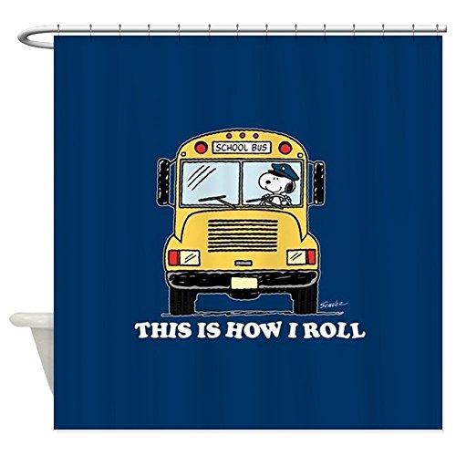 nuohaoshangmao Snoopy - This Is How I Roll - Decorative Fabric Shower Curtain (60