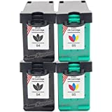 Toner Kingdom® Compatible Ink Cartridges Replacement for HP 94 / C8765WN and 95 / C8766WN - 4 Pack, 2PK Black + 2PK Color