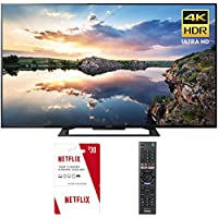 Sony KD60X690E 60-Inch 4K Ultra HD Smart LED TV (2017) Plus 1 Free Month of Netflix