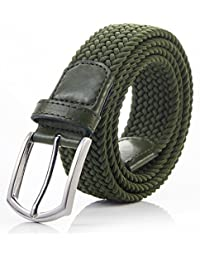 "Men's Stretch Woven 1.3""Wide Elastic Braided Belts"
