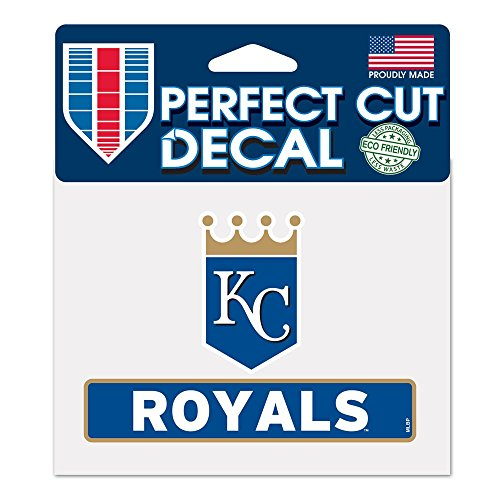 (WinCraft MLB Kansas City Royals WCR17949014 Perfect Cut Color Decal, 4.5