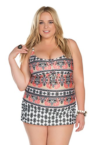 Becca-ETC-Womens-Plus-Size-Belly-Dancer-Draped-Shirred-Side-One-Piece-Swimsuit-0X-BeccaEtc16Mlt