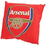 Arsenal FC Official Soccer Crest Cushion (14.5in x 14.5in) (Red)