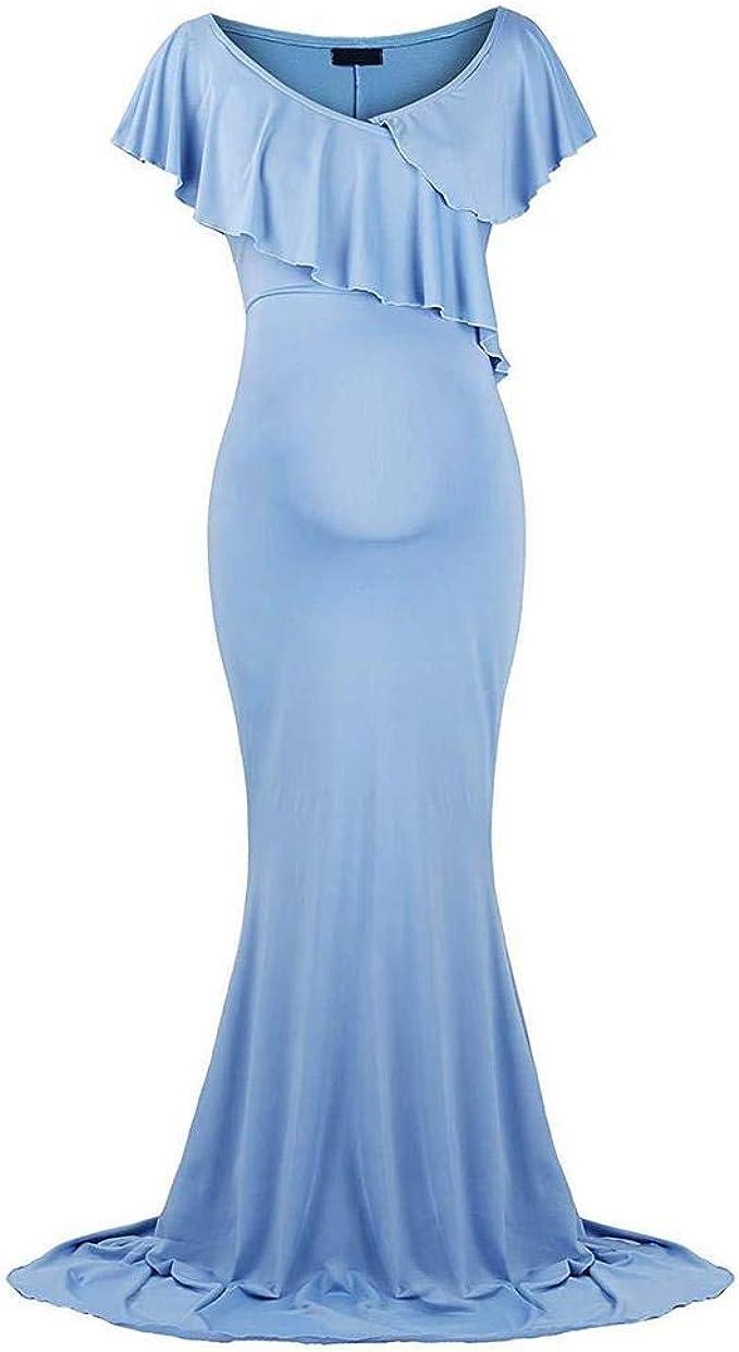 Schwangerschaftskleid Umstandskleid Maxi Kleider für Schwangere