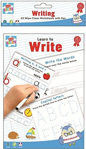 Amazon.com : Learn To Write - Spelling Writing & Reading 20 Wipe ...