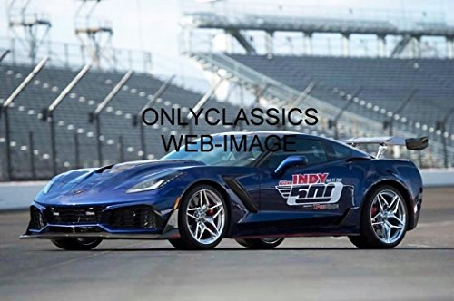 OnlyClassics 2019 Chevrolet Corvette ZR1 INDY 500 PACE CAR 8X12 Photo Supercharged V-8 755 HP
