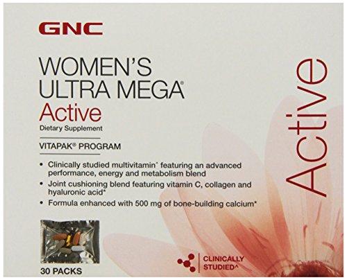 Ultra Mega Supplément Active GNC femmes, 30 comte