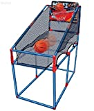 WolVol Kids Large Indoor Basketball Game Set, includes 2 small balls & Ball Inflator Pump (stands 54.7 inches tall)
