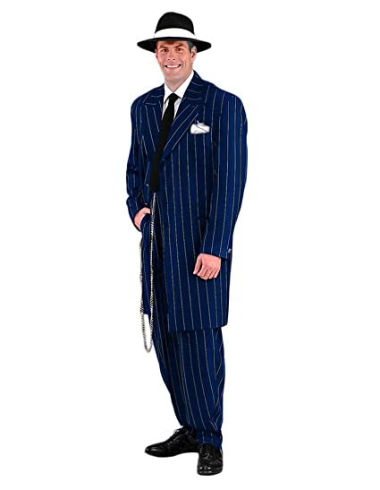 1940s Men's Suit History and Styling Tips Mens Deluxe Gangster Zoot Suit Theater Quality Costume $299.99 AT vintagedancer.com
