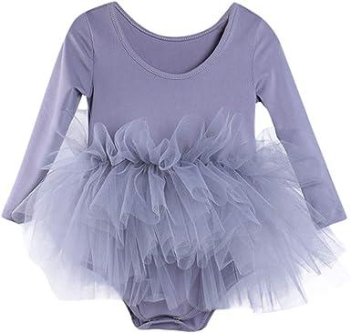 Mitlfuny Verano Niñas Bebé Danza Rendimiento Gimnasia Vestidos sin ...