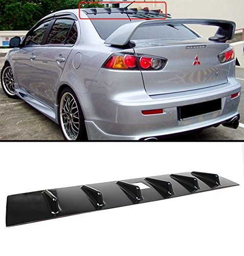 2009 Lancer Ralliart - Cuztom Tuning FOR 2008-2016 MITSUBISHI LANCER RALLIART SHARK FIN ROOF VORTEX GENERATOR SPOILER