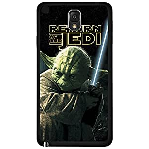 Colorful Retro Yoda Jedi Master Art Hard Snap on Phone Case (Note 3 III)