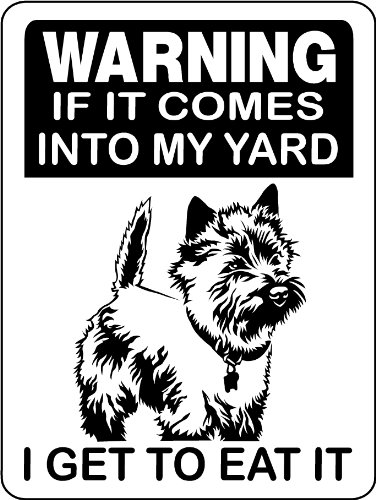 CAIRN TERRIER ALUMINUM GUARD DOG SIGN MYCT 9