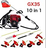 CHIKURA Multi Lawn mower Backpack GX35 Long Reach Pole Chainsaw Brush Cutter Pruner tree