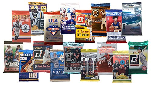 2016-2018 Panini NBA NFL and MLB Combo Variety Pack - 15 Packs Auto AND memorabilia Guaranteed